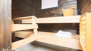 Tilava sauna uusin lautein!