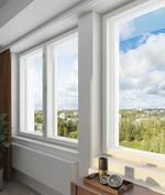 Visualisointikuvassa taiteilijan näkemys asunnon A66 näkymistä