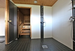 Taloyhtiön remontoitu saunaosasto