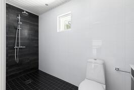 Yläkerran kylpyhuone remontoitu 2015.