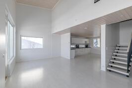 Olohuone ja keittiö - valoa ja tilaa
