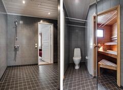 Tyylikäs kylpyhuone uusittu 2015/ Det stiliga badrummet är förnyat 2015