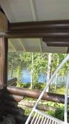 Näkymä terassilta Pajulammelle