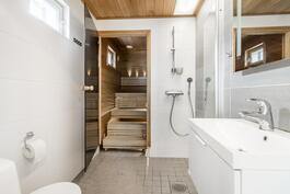 Yläkerran sauna/ph