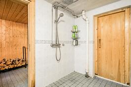 Sauna ja suihkutila