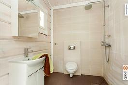 Huvilan wc ja kylpyhuonetilaa