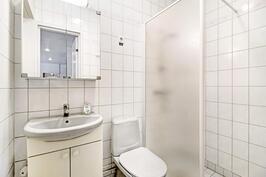 Alakerran makuuhuoneen viereinen wc/kylpyhuone