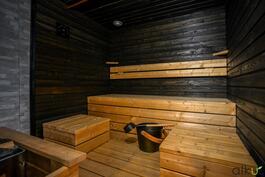 Omassa saunassa nautitaan.