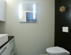 yläkerran kauniiksi remontoitu wc