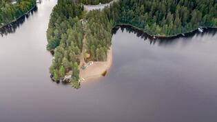 Alueella on uimaranta