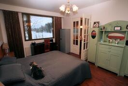Makuuhuone 3 joen puolella pariovin keittiöstä