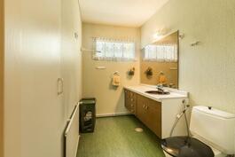 Erillinen wc yläkerrassa