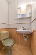 Vanhan liiketilan huoneen wc