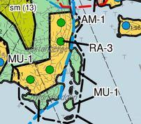 Ote rantayleiskaavasta RA-3 / Utdrag ur strandgeneralplanen RA-3