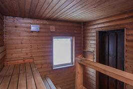 Saunarakennuksen sauna