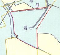 kiinteistö kartalla, 1,13 ha