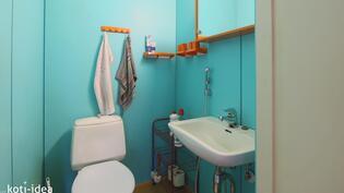 Talossa kaksi erillisä WC:ä