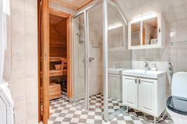 Kylpyhuone/saunaosasto
