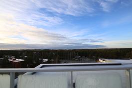 Näkymät yhteiseltä kattoterassilta