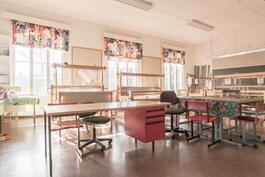 Vanhan koulun luokkahuone