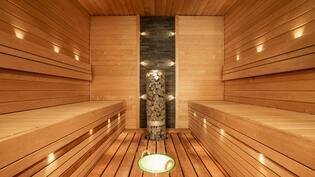 Sauna, jossa kuituvalot