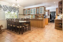 iso keittiö ja ruokailutila