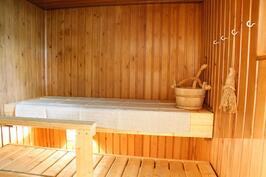saunassa on sähkökiuas
