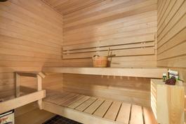 Vaaleapuupintainen sauna