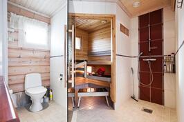 Kylpyhuone/sauna/wc