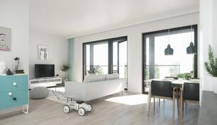 Havainnekuva on asunnosta B70, 63,5 m2.