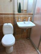 Alakerran wc, suihku oikealla puolella