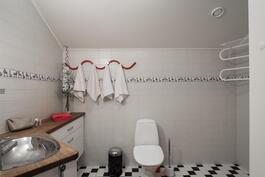 Yläkerran WC/kph:ssa optio suihkukaapille