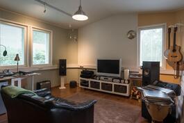Työhuoneeksi sopiva äänieristetty huone alakerrassa