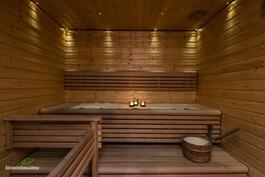 Tunnelmallisessa saunassa lepää sielu sekä ruumis.