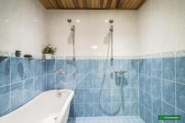 Kylpyhuoneessa tassuamme ja 2 suihkua