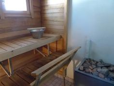 Sauna kahdella kiukaalla