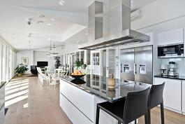 Todella hyvin varusteltu keittiö/ Verkligen välutrustat kök.