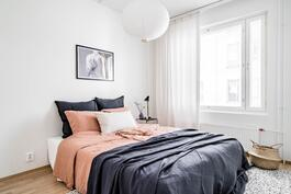 Esittelyasunto C57, 3h, k, 60 m², makuuhuone