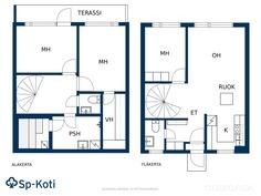 Asuintilat kahdessa kerroksessa