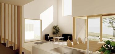 Arkkitehdin kuvitteellinen sisustuskuva