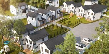 Havainnekuva taloista ja niiden sijoittelusta