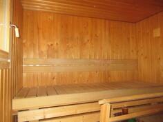 Asiallisessa 2010-luvun saunassa sähkökiuas ja muoviset käyttövesiputket ovat ...