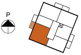 Asunnon 20 sijainti kerroksessa