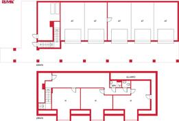 Garage 1:st and 2:d floor layout