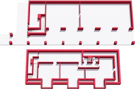 Garage 1:st and 2:d floor 3D layout