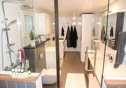 saunasta pesuhuoneeseen