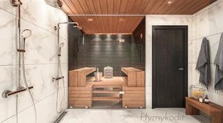 Sauna ja kylpyhuone Royal-sisustustyylillä