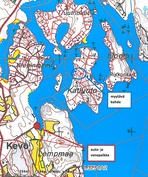 kartta auto- ja venepaikasta