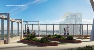 Taiteilijan näkemys 30. kerroksen terassilta