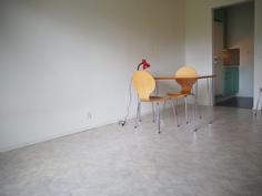 Olohuoneen takana keittiö